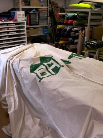 テントをリサイクル